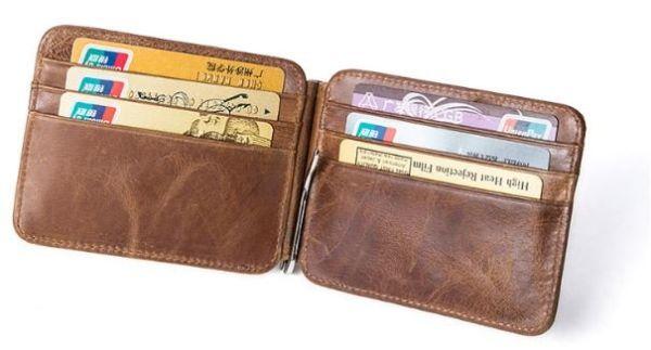 Зажим для купюр Vintage 14929 коричневый