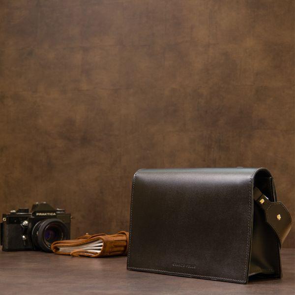 Женская стильная сумка из натуральной кожи GRANDE PELLE 11434 черный