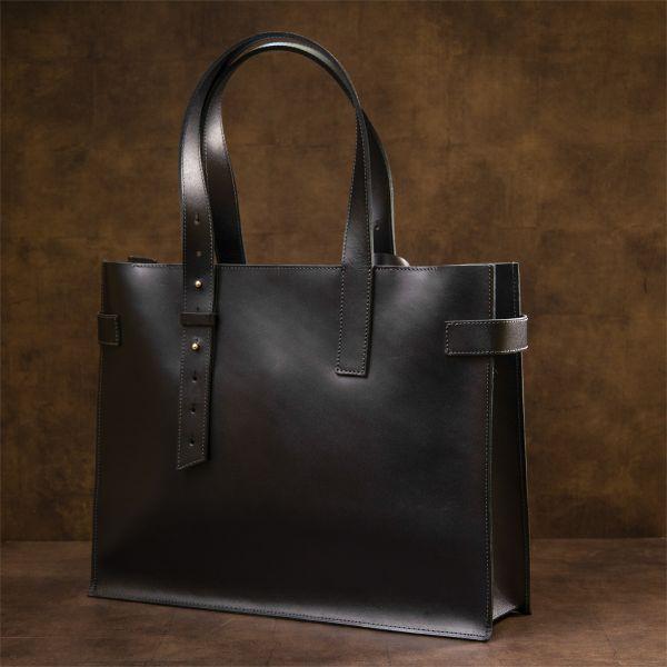 Женская сумка-шопер из натуральной кожи GRANDE PELLE 11436 черный