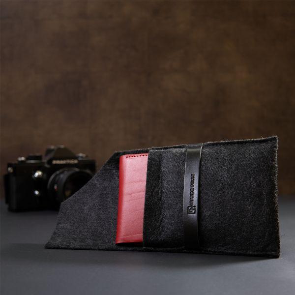 Женский кожаный кошелек GRANDE PELLE 11365 красный
