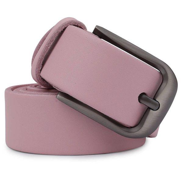 Женский кожаный ремень Vintage 20778 Розовый