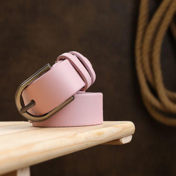 Женский кожаный ремень Vintage 20796 Розовый