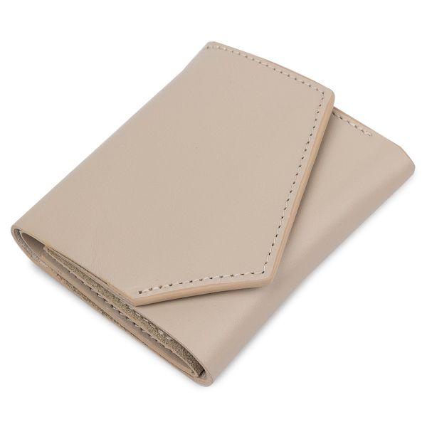 Женское компактное кожаное портмоне GRANDE PELLE 11520 бежевое