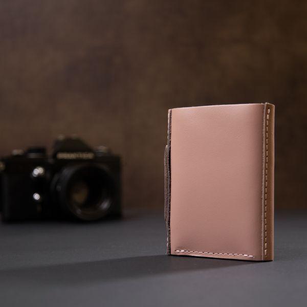 Женское кожаное портмоне GRANDE PELLE 11366 розовый