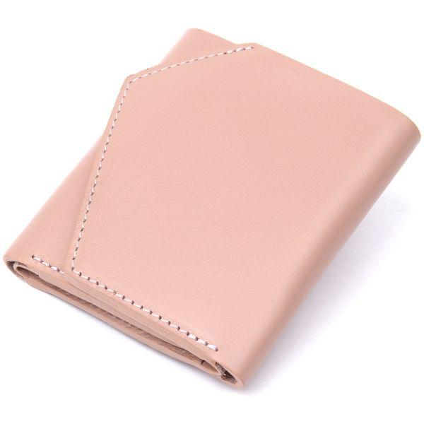 Женское портмоне из натуральной кожи GRANDE PELLE 11472 бежевый