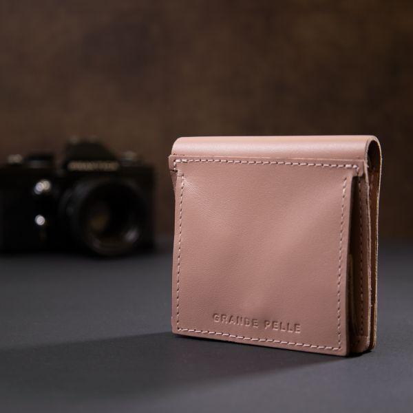 Женское портмоне с монетницей GRANDE PELLE 11370 розовый